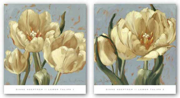 Lemon Tulips Set by Diane Hoeptner