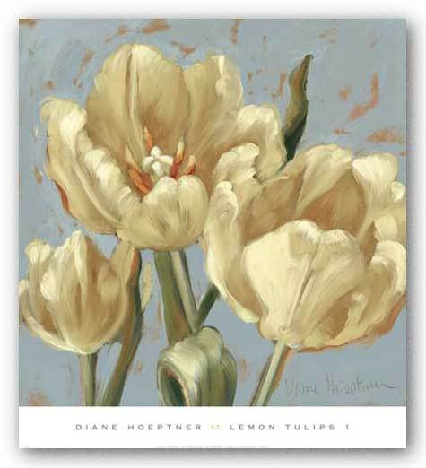 Lemon Tulips 1 by Diane Hoeptner