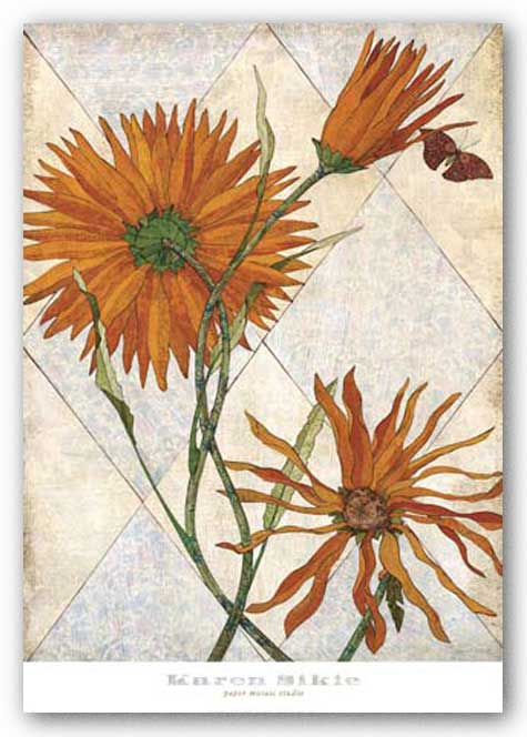 Orange Daisies by Karen Sikie