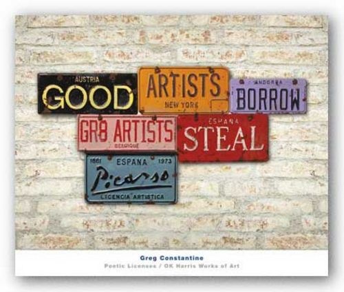 Picasso, Steal (Good Artists Borrow Great Artists Steal) by Greg Constantine
