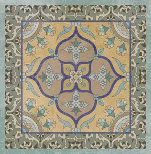 Floral Tile II by Paula Scaletta
