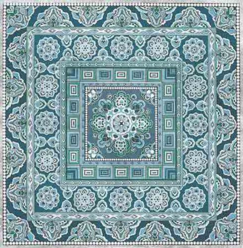 Silver Blue Tile I by Paula Scaletta