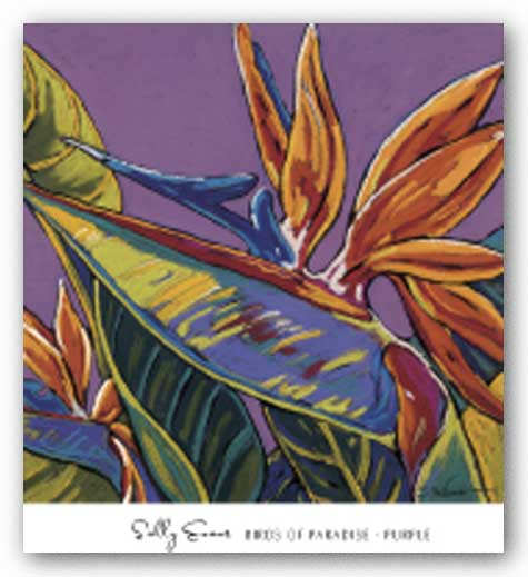 Birds of Paradise - Purple by Sally Evans