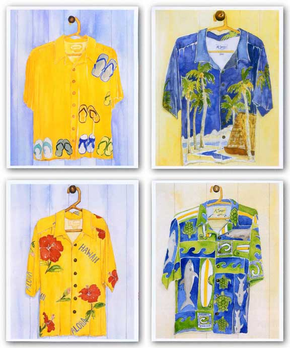 Hawaiian Shirt Set by Mary Spears