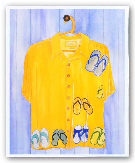 Hawaiian Shirt I by Mary Spears