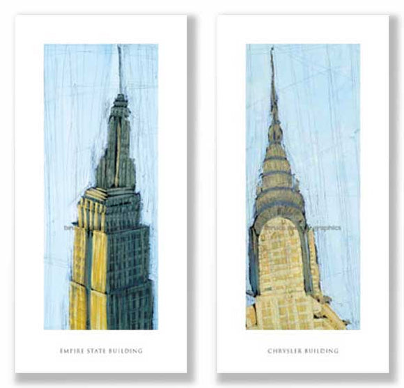 Chrysler Building and Empire State Building Set by Mark Gleberzon