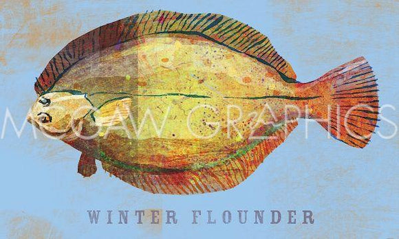 Winter Flounder by John W. Golden