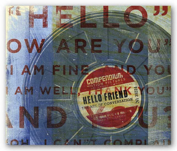 Hello Friend by John W. Golden