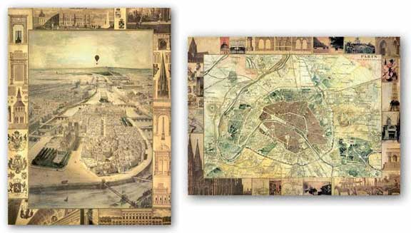 Carte de Paris Set by Susan Gillette