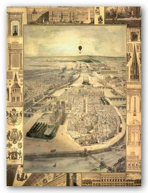 Carte de Paris I by Susan Gillette