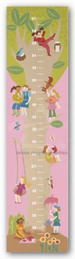 Tree House Growth Chart by Janell Genovese