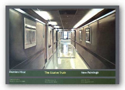 The Elusive Truth-Hospital Corridor by Damien Hirst