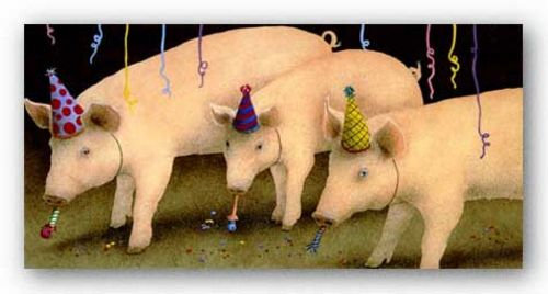 Party Pigs by Will Bullas