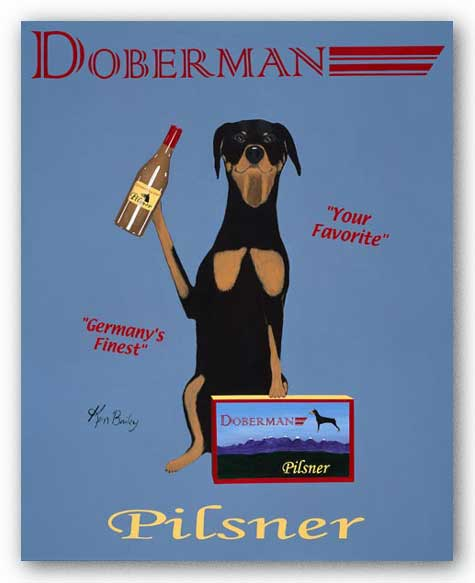 Doberman Pilsner by Ken Bailey