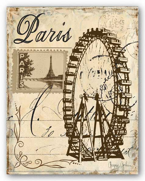 Paris Collage III by Gregory Gorham