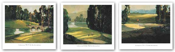 The 1st Tee-Putt for Par-The 9th Tee Set by Ted Goerschner