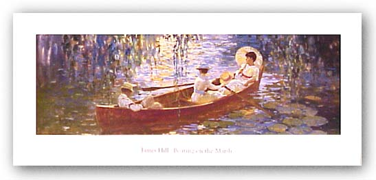 Boating On The Marsh by James J. Hill