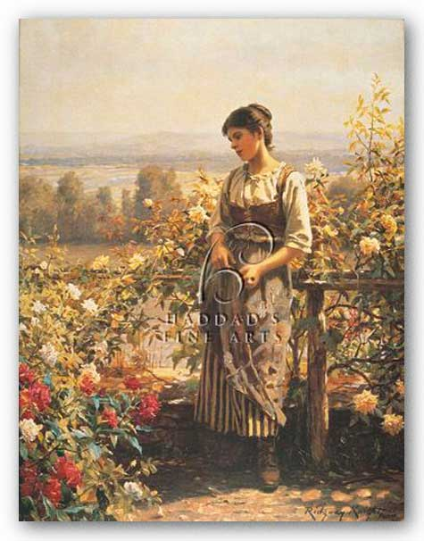 Ray of Sunshine by Daniel Ridgway Knight