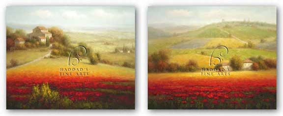 Fields of Red and Gold Set by Eugene LaPorte