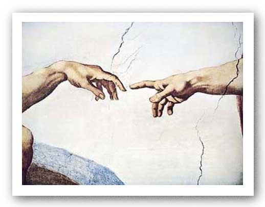 Creation of Man (Detail) by Michelangelo