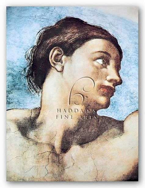 Head of Adam by Michelangelo