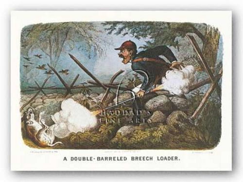 Double-Barreled Breech-Loader by Currier and Ives
