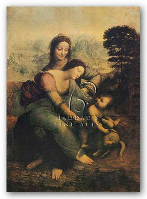 The Virgin, Child, and St. Anne by Leonardo Da Vinci