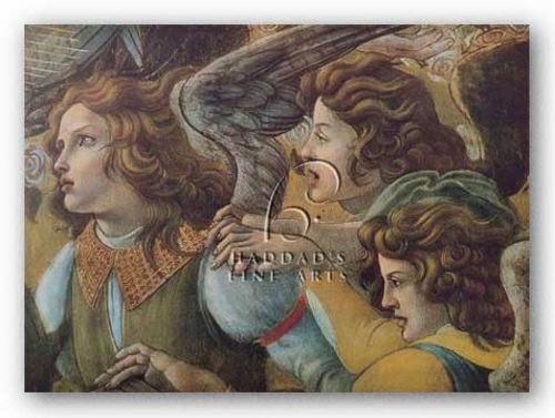 Angels (Detail from The Coronation) by Sandro Botticelli