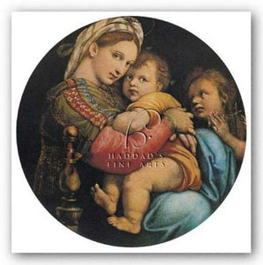 Madonna of the Chair by Sanzio Raphael (Raffaello)