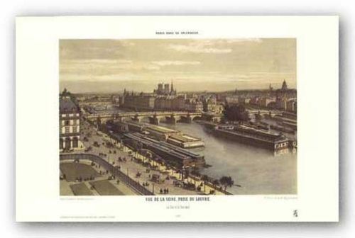 View of the Seine From the Louvre by P.H. Benoist