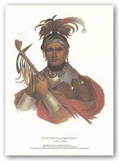 Ki-On-Twog-Ky, or Corn Plant, a Seneca Chief by McKenney-Hall