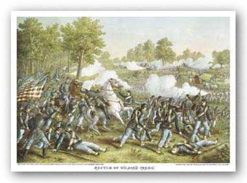 Battle of Wilson's Creek by Louis Kurz and Alexander Allison