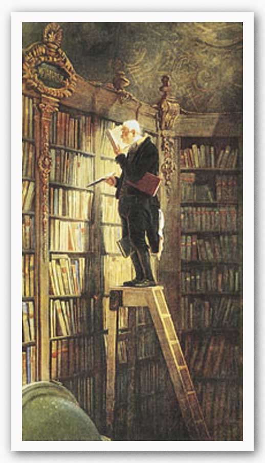 Bookworm by Carl Spitzweg