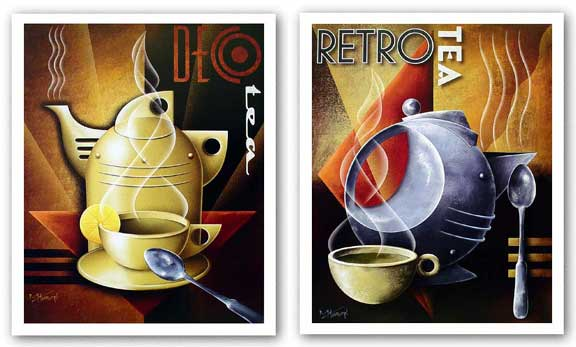 Retro Tea and Deco Tea Set by Michael Kungl