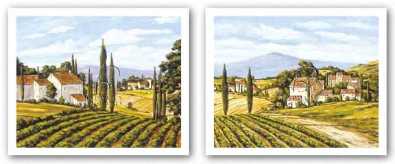 Road to the Vineyard and A View of the Valley Set by Charles Berry