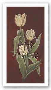 Tulips On Cinnabar II by Elliott Parker
