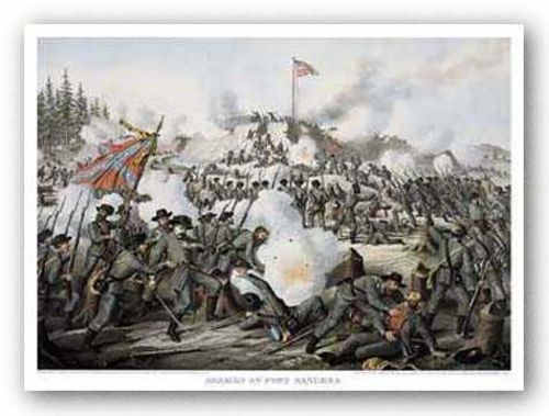 Assault on Fort Sanders by Louis Kurz and Alexander Allison