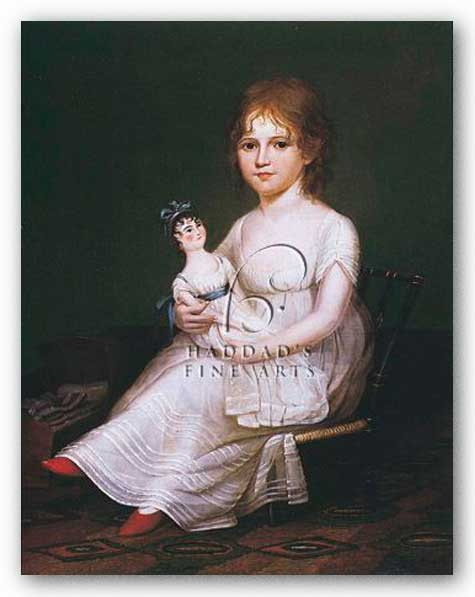 Girl Holding a Doll by James Peale