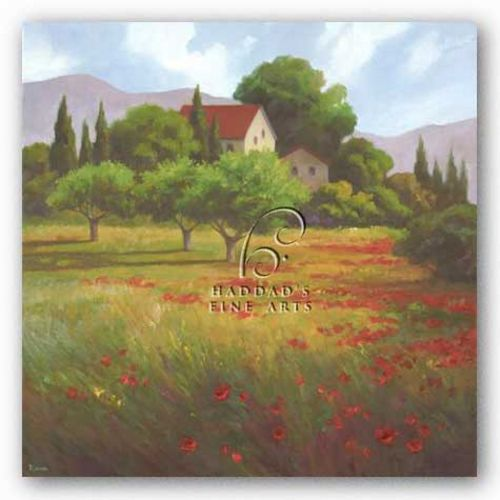 Olives and Poppies by Vivien Rhyan