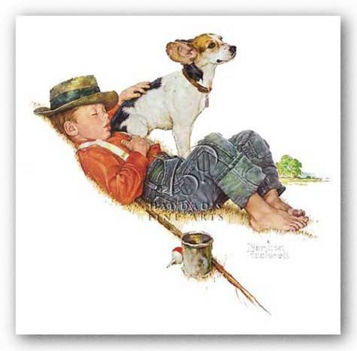 Adventurers Between Adventures by Norman Rockwell