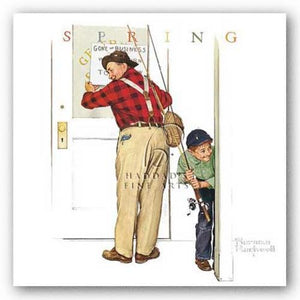 Closed for Buisness by Norman Rockwell