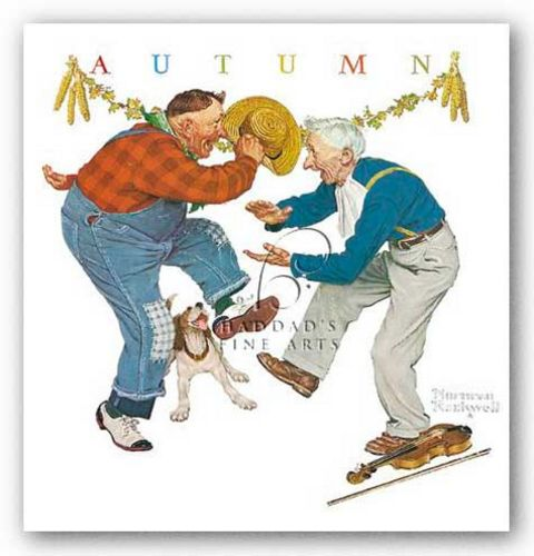 Fancy Footwork by Norman Rockwell