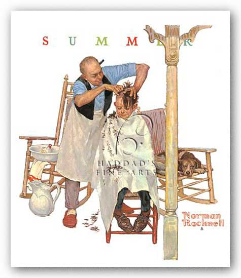Shear Agony by Norman Rockwell