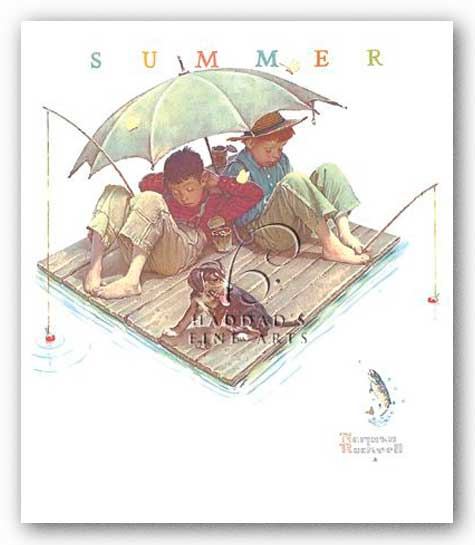 Fisherman's Paradise by Norman Rockwell