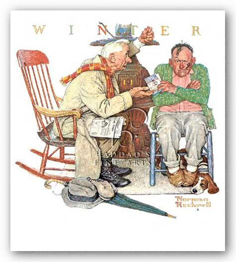 Endless Debate by Norman Rockwell