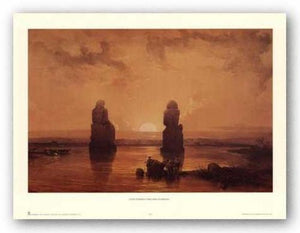 Statues of Memnon at Thebes, During the Inundation by David Roberts