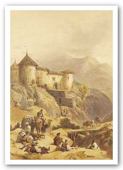 Hill Fort of Ghulab Sinj by David Roberts