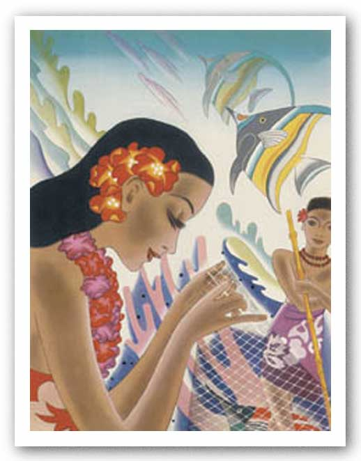 Vintage Hawaii I by Frank MacIntosh