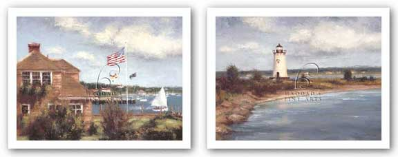 Edgartown Lighthouse and Edgartown Set by Todd Williams