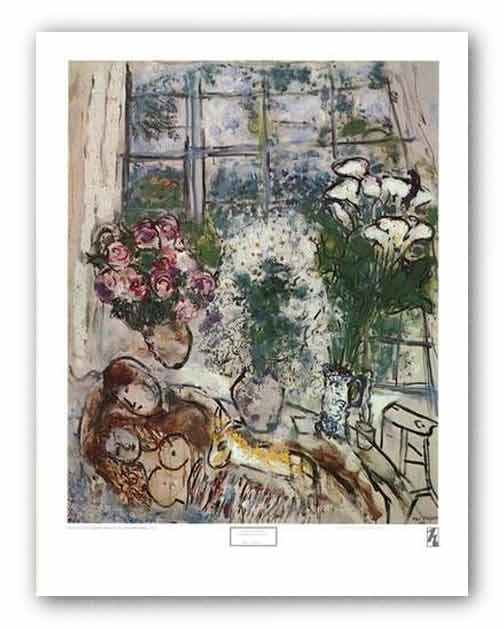 White Window by Marc Chagall